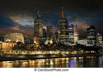 Night Colors in Melbourne, Australia