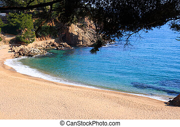 Deserted beach (Costa Brava, Spain) - Cala Sant Francesc...