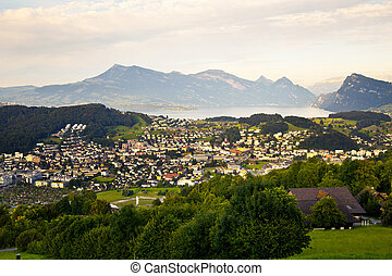 Kriens Village in Lucerne, Switzerland