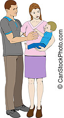 Young loving happy family - A young loving family happy...