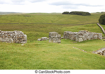 North gate at a Roman fort in England