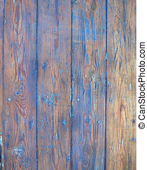 grunge blue painted wood