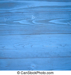 weathered blue painted wood strips