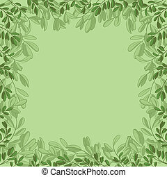 Background, green leaves