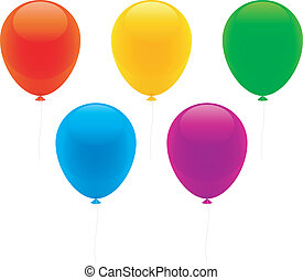 Color balloons.