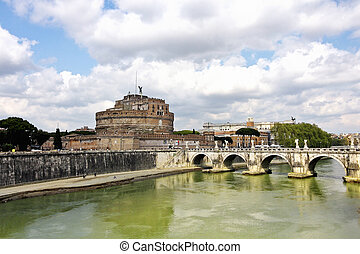 Sant Angelo Castle and Bridge in Rome