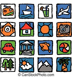 Tourism-icon-set - The set of icons concerns the tourism,...