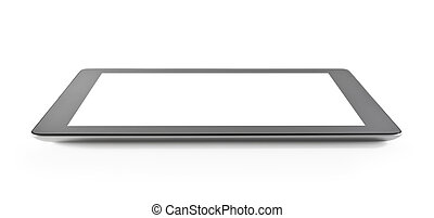 Blank Tablet PC - Blank digital tablet isolated on white.