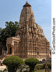 Hindu temple, built by Chandela Rajputs - Huge stack of...