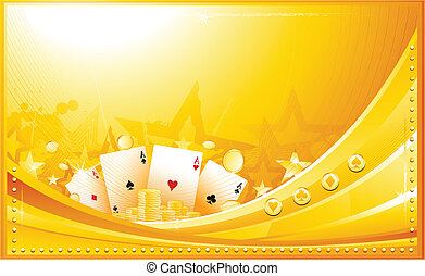 Casino background - Golden casino background