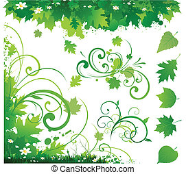 Nature ornament decoration border
