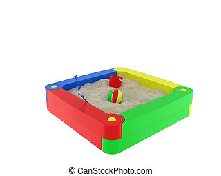 sandbox, isolated on a white background