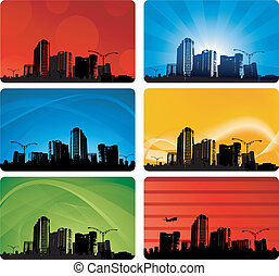 City background business card