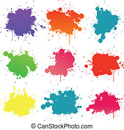 Paint splat collection - Paint splat isolated on white