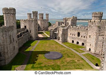 Caernarfon, 城堡, Snowdonia, 威爾士