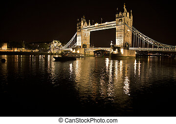 London, tower bridge at night - The tower bridge in London...