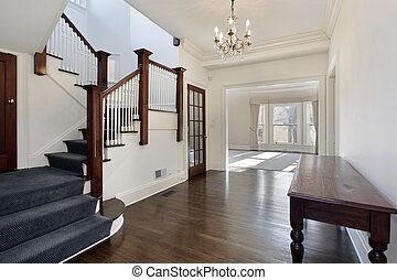 Foyer in traditional home