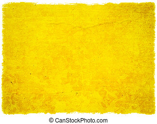 Grunge Yellow Floral Background Isolated - Grunge Yellow...