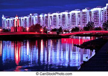 Minsk in the night