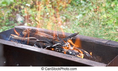 Fire - Fire in the brazier for grill
