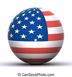 USA Globe - A Colourful 3d Rendered USA Flag Globe...