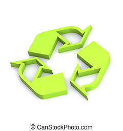 Recycle Symbol - A Colourful 3d Rendered Recycle Symbol...
