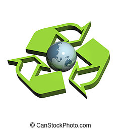 Recycle Symbol Australia / Japan - A Colourful 3d Rendered...