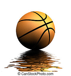 Basketball Reflections - A Colourful 3d Rendered Basketball...