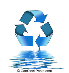 Recycle Reflections - A Colourful Photoshop Recycle Sign...