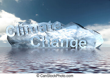 Climate Change - A Colour 3d Rendered Climate Change Concept...