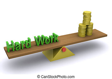 Hardwork Success - A Colourful 3d Rendered Hardwork Success...