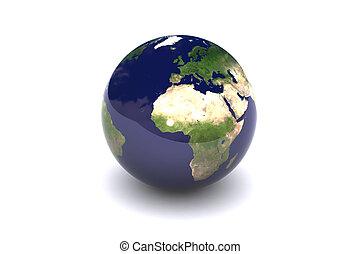Earth Globe  Europe