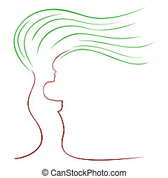 Female tree - Abstract symbol of tree with shape of woman