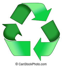 Green Recycle Symbol - A Colourfull Green Photoshop Recycle...