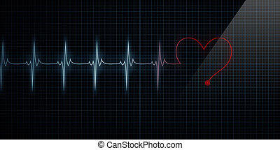 Heart Shape Monitor Turning Red
