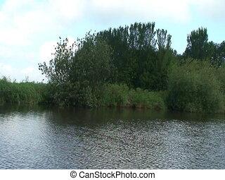 Dutch river shore - Shore af a dutch river in friesland