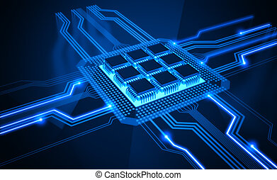 Micro Chip - Central Processing Unit A processor microchip...