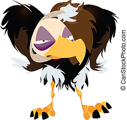 Grumpy Vulture Vector Illustration - Illustration of an...