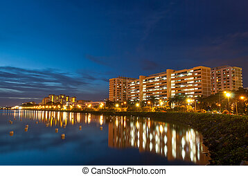 Peaceful residential district - Night view of peaceful...