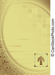 Abstract Gold Digital Background