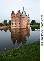 Egeskov castle Funen Denmark - Egeskov castle slot landmark...