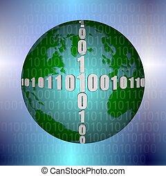 Binary code and Earth