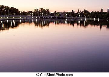 Wascana lake at night