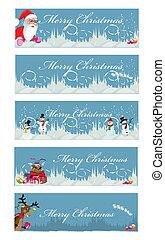 Set of 5 christmas banners