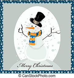 sweet snowman greeting card