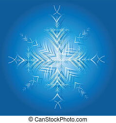 Decorative snowflake. Vector.