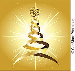 an abstract christmas tree
