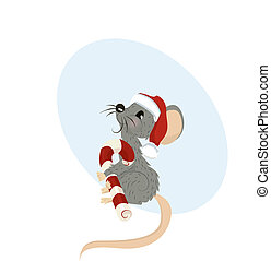 Holiday Mouse Vector Illustration