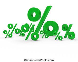 3d green sale percent