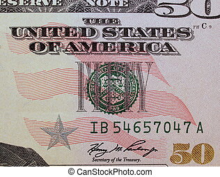 fifty dollar bill  background, textures
